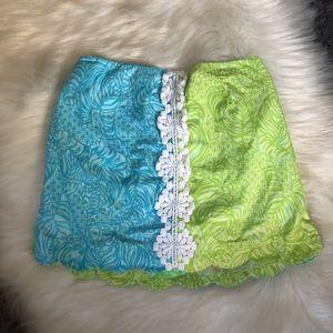 Lily Pulitzer Jubilee Girls Scalloped Skort Skirt
